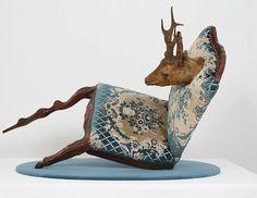 Woodland Trust - by Nina Saunders Saatchi Gallery, Environmental Art, Art Furniture, Soft Sculpture, Conceptual Art, Art Object, Oeuvre D'art, Textile Art, Fiber Art