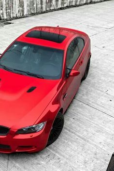 BMW E92 M3 red with black rims