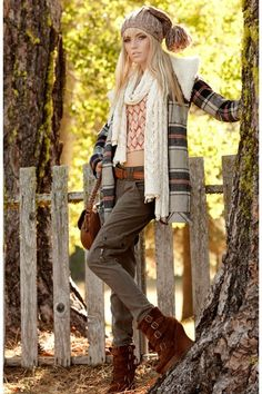 Winter fashion. Teen fashion popular fashion today. Leggings and cute boot heels and scarf is adorable