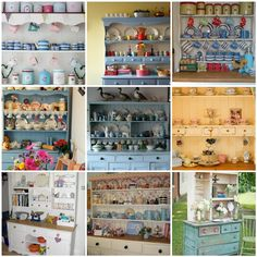 I've got a Welsh dresser in a nasty orange pine colour. Some ideas here for repainting it. Cottage Furniture, Dream Furniture, New Furniture, Painted Furniture, Kitchen Dresser, Kitchen Cupboards, Kitchen Dining, Dining Room, Shabby Chic Welsh Dresser