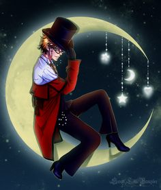 Sweet Dreams by SweetLittleVampire.deviantart.com on @deviantART Ronald stole Grell's clothes and had some fun.