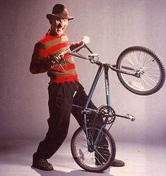 A Nightmare on Elm Street Dream Warriors — Promotional Vintage Bmx Bikes, Velo Vintage, Vintage Cycles, Retro Bikes, Big Blue Whale, Gt Bmx, Street Film, Dream Warriors, Teenage Wasteland