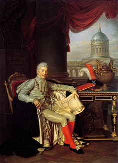 Gods and Foolish Grandeur Baron Alexander Sergeyevich Stroganov, by Alexander Varnek, 1814. (If the date is correct, the portrait would have been completed three years after Stroganov's death.)