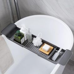 Dania - Bath Tray It's never been easier to relax in the bath with a glass of wine and a good book than with the Dania bath tray! Perfect for storage. Conveniently doubles as a drying tray. Made from ABS plastic. Tray measures approximately 15 Bathtub Storage, Bathtub Tray, Shower Storage, Bathtub Shower, Bath Trays, Bathroom Wall Shelves, Bath Shelf, Washroom, Towel Organization