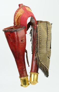 PAIRE DE FONTES DE COLONEL, PREMIER EMPIRE. Napoleonic mounted pistol holsters