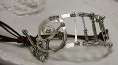 Silver cuff bracelet by jihidesigns on Etsy, $75.00