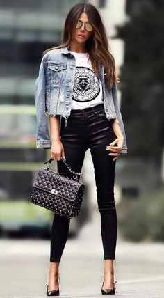 30 Outfit-Ideen, die Ihre Herbstmode inspirieren – Cool Style 30 outfit ideas that inspire your fall fashion fashion 30 Outfits, Outfits Casual, Mode Outfits, Unique Outfits, Classy Outfits, Spring Outfits, Fashion Outfits, Fashion Heels, Rock Chic Outfits