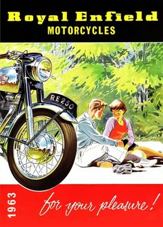 ideas for motorcycle art royal enfield British Motorcycles, New Motorcycles, Vintage Motorcycles, Motorcycle Posters, Motorcycle Style, Art Moto, Enfield Motorcycle, Buy Classic Cars, Classic Car Insurance