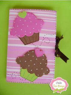 Diy Cuadernos Apuntes 35 Ideas For 2019 Foam Crafts, Diy And Crafts, Crafts For Kids, Arts And Crafts, Paper Crafts, Cupcake Crafts, Birthday Souvenir, Merian, Notebook Covers
