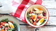 Sałatka z jajkiem i gorgonzolą  http://kotlet.tv/salatka-z-jajkiem-i-gorgonzola/