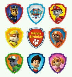 Free Printable Paw Patrol Photo Booth Props More from my siteFree printables for Paw Patrol party.Kid's Inspiration Photo of Paw Patrol Birthday Cake IdeasPaw Patrol Birthday Party Ideas Paw Patrol Cupcake Toppers, Paw Patrol Cupcakes, Paw Patrol Birthday Cake, 4th Birthday Parties, Birthday Fun, Birthday Ideas, Fete Laurent, Paw Patrol Badge, Paw Patrol Games