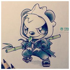 What I want my next tattoo to look like. Pancham!!!