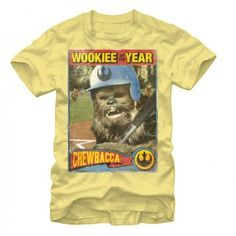 $5 OFF Star Wars Teez!!! The FREE SHIPPING! Use 'starwars500' at checkout at starwarsteez.com/. #StarWars #Coupon #Deal #Sale #Discount - Star Wars Chewbacca Wookiee Rookie Yellow Mens T-Shirt