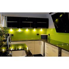 Lime green kitchen