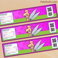 tinkerbell bottle labels FREE Printable Disney Tinkerbell Water Bottle Labels