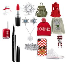 """""""Christmas is almost here """" by kitkat1150 on Polyvore featuring Converse, Topshop, Pandora, Palm Beach Jewelry, Victoria's Secret, MAC Cosmetics, Essie and Marc Jacobs"""