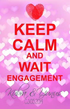 #keepcalm #wedding #engagement #DIY #word #love #style