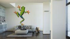 Architects Paper Fototapete Frog (XL) 470032; simuliert auf der Wand