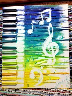crayon art of bands - Google Search