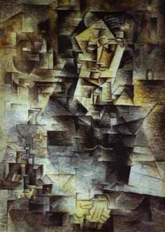 "Pablo Picasso. ""Portrait Of Daniel Henry Format"". 1910 In ""analytical"" period of cubism (1909/10-1912), the artist breaks up the items into smaller fragments."
