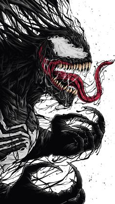 Venom by He is an amazing illustrator. Check his work on his page Venom Spiderman, Marvel Venom, Spiderman Art, Venom Comics, Marvel Comics Art, Marvel Heroes, Wallpaper Animes, Marvel Wallpaper, Normal Wallpaper