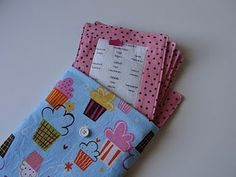 fabric menus for the play kitchen