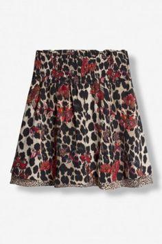 Leopard flower skjørt Alix The Label - 185233797 Boho Shorts, Label, Flower, Women, Fashion, Environment, Moda, Fashion Styles, Fashion Illustrations
