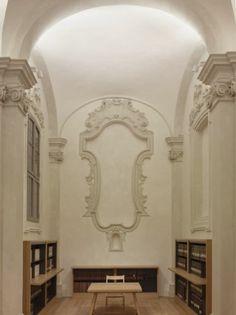 Biblioteca d'Arte e di Storia di San Giorgio in Poggiale, Bologna - Michele De Lucchi, Franco Bergonzoni & Claudio Parmiggiani