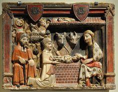 'Nativitat', Mestre d'Albesa, segona meitat del segle XIV, procedent de Sant Pere d'Àger, Museu Nacional d'Art de Catalunya