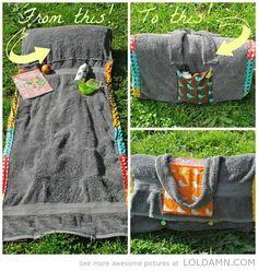 Cool beach towel bag