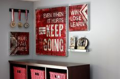 Basketball Themed Teen Rooms | No. 4 – Motivational quotes, grunge style, plus floating wall ...