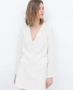 ZARA - WOMAN - TOP WITH LACE-UP SIDE