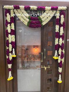 Door Flower Decoration, Home Flower Decor, Background Decoration, Backdrop Decorations, Flower Decorations, Backdrops, Hanging Decorations, Diwali Decorations At Home, Home Wedding Decorations