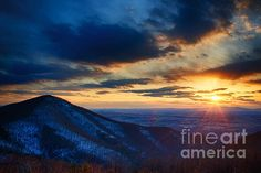 Skyline Drive in Shenandoah Natl Park as photographed by Joan Carrol from Fine Art America.