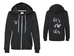 Let's Do This / Minnie zip hoodie by humormetees on Etsy