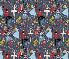 Clara's Nutcracker Ballet_Med fabric by robinpickens on Spoonflower - custom fabric