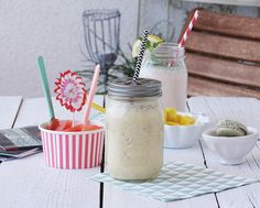 Nachbarschaftsplausch mit frischen Smoothies  und Milram Buttermilch Drinks { Werbung}