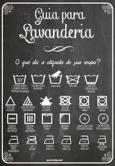 Poster Lavanderia Lousa | Poster de Papel | Elo7: