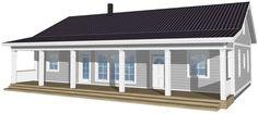 Kreivi-talo, Kokkola - New England 135 Koti, New England, House Ideas, Exterior, House Design, Outdoor Decor, Home Decor, Decoration Home, Room Decor