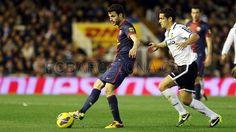 Fábregas, FC Barcelona.   Valencia 1-1 FC Barcelona. 2013-02-03.