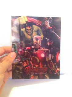 Avengers Age of Ultron New 3D Lenticular Card with Flip effect for Bluray