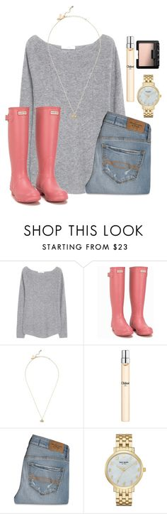 """""""These hunters are amazingggg:)"""" by lydia-hh ❤ liked on Polyvore featuring MANGO, Hunter, Kate Spade, Chloé, Abercrombie & Fitch and NARS Cosmetics"""