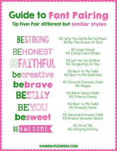 Font Pairing Guide #5 Pair similar fonts together! :)