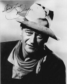 "John Wayne ""Hondo"" Autographed 8 X 10 Unframed Print"
