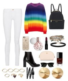 winter by aurel-awaloei on Polyvore featuring polyvore, mode, style, Frame Denim, Yves Saint Laurent, Henri Bendel, Eddie Borgo, Chanel, Aéropostale, Forever 21, Casetify, Ray-Ban, Smashbox, Tory Burch, women's clothing, women's fashion, women, female, woman, misses and juniors
