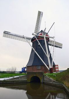 Polder mill De Biks, Onnen, the Netherlands