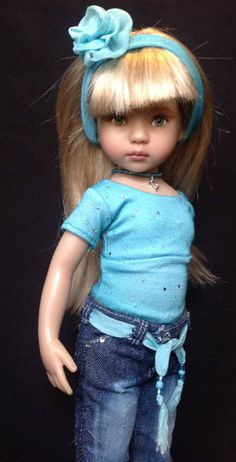 """""""Glitter Glitz"""" A Jeans Outfit for Dianna Effner's 13"""" Little Darling Dolls 