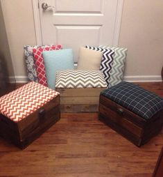 Ottoman Wooden Crates Home Decorating Project