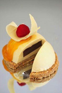 Bavaroise de mango y yogur con chocolate
