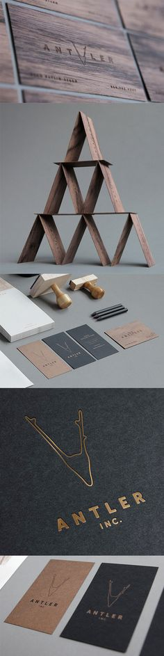 Premium Laser Cut Wooden Business Card Design For A Film Studio
